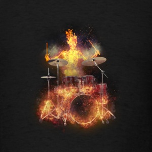 Flaming Skeleton Drumer S Sweatshirts - Men's T-Shirt