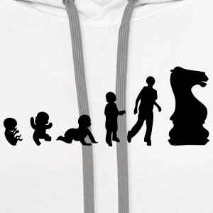 evolution sports player chess T-Shirts - Contrast Hoodie