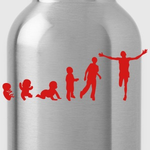 human evolution sports marathon 2 T-Shirts - Water Bottle
