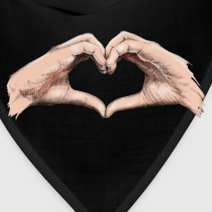 Hands heart T-Shirts - Bandana