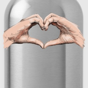 Hands heart T-Shirts - Water Bottle