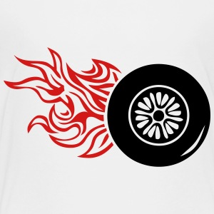 tire wheel flame fire 1 Kids' Shirts - Toddler Premium T-Shirt