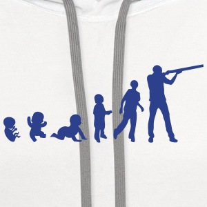 evolution skeet shoots man rifle Kids' Shirts - Contrast Hoodie