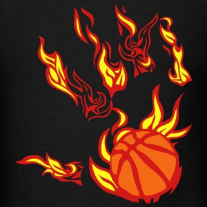 basketball fire flame hand Tanks - Men's T-Shirt