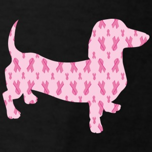 Cute cuddly Dachshund supporting Cancer Research - Men's T-Shirt