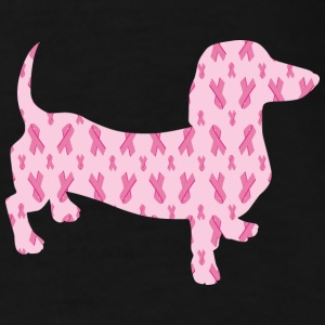 Cute cuddly Dachshund supporting Cancer Research - Men's Premium T-Shirt