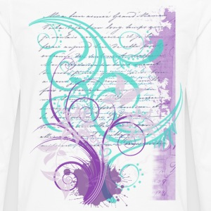 Swirls, Text and Flowers - Men's Premium Long Sleeve T-Shirt