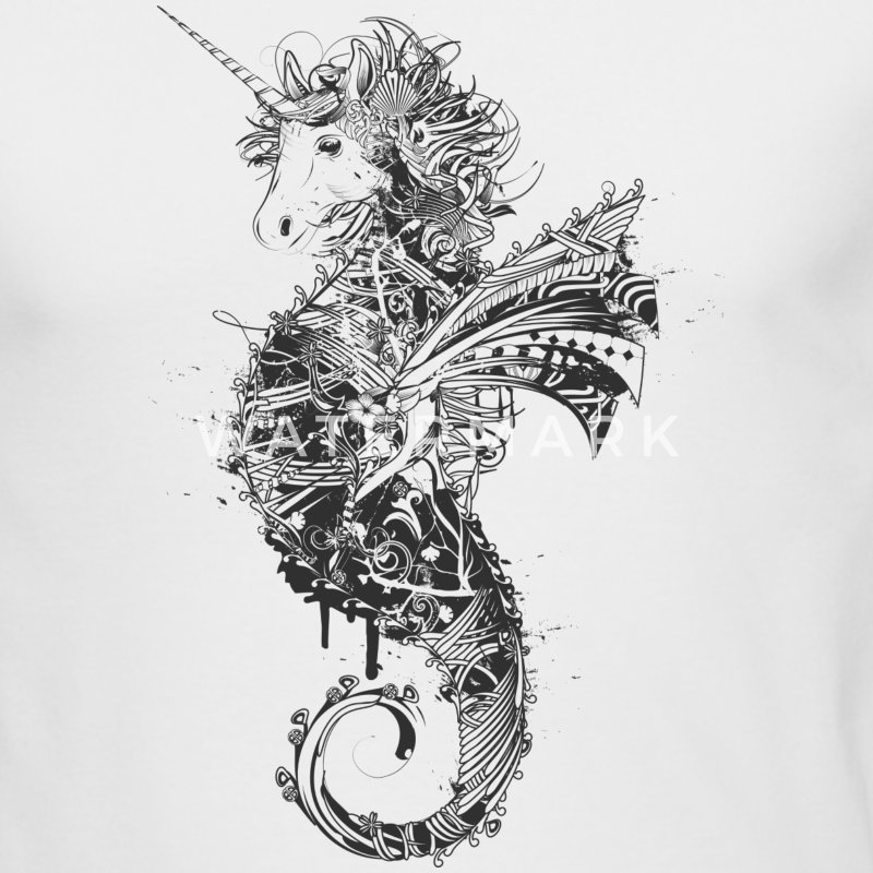 Unicorn seahorse Long Sleeve Shirts - Men's Long Sleeve T-Shirt by Next Level