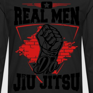 real men do jiu jitsu T-Shirts - Men's Premium Long Sleeve T-Shirt