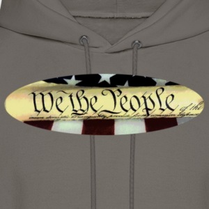 We the People oval T shirt - Men's Hoodie