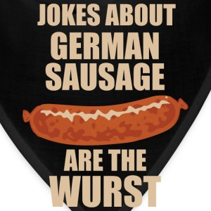 Jokes About German Sausage Are The Wurst Mugs & Drinkware - Bandana