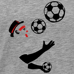 juggling soccer ball  Long Sleeve Shirts - Men's Premium T-Shirt