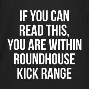 You Are Within Roundhouse Kick Range FUNNY Hoodies - Men's Premium Long Sleeve T-Shirt