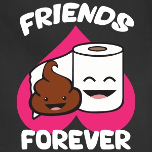 Friends Forever - Poop and Toilet Paper Roll T-Shirts - Adjustable Apron
