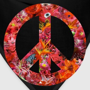 peace with flowers T-Shirts - Bandana
