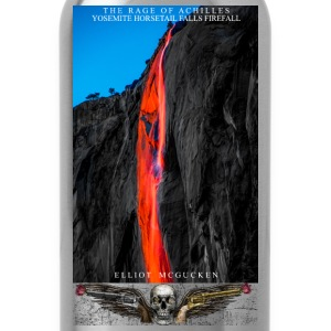 The Rage of Achilles Yosemite Firefalls Fine Art - Water Bottle