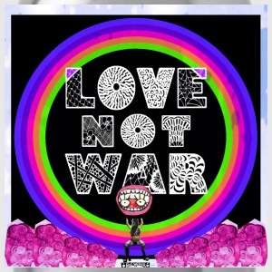 Love, not war! - Water Bottle