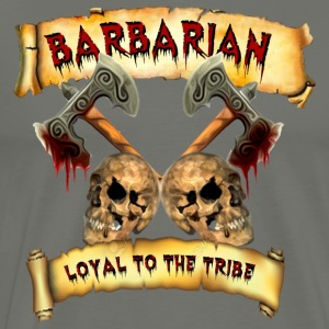 Barbarian    Loyal to the Tribe Hoodies - Men's Premium T-Shirt