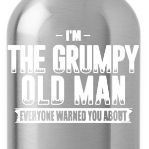 Grumpy Old Man Shirt - Water Bottle