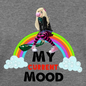 Cute Girl Bubble Gum Rainbow Mood  T-Shirts - Women's Wideneck Sweatshirt