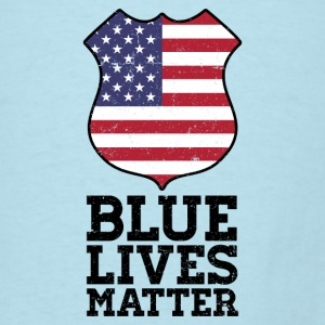 Blue Lives Matter - Color Flag Shield Baby Bodysuits - Men's T-Shirt