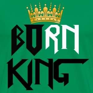 Born King Green Hoodie - Men's Premium T-Shirt