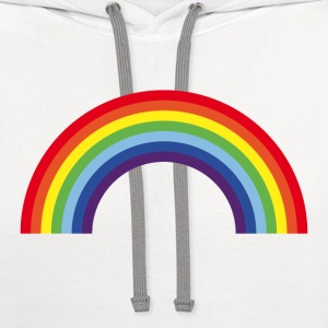 Rainbow / Arc-En-Ciel / Arcoíris (7 Colors) Kids' Shirts - Contrast Hoodie