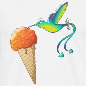 Summer Hummingbird Eating Ice Cream Sportswear - Men's Premium T-Shirt