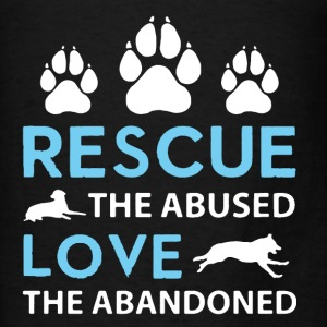Rescue The Abused  - Men's T-Shirt