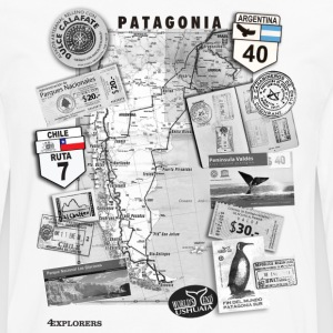 Patagonia Road Trip Map - Men's Premium Long Sleeve T-Shirt