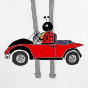 Ladybug Driving Red Car T-Shirts - Contrast Hoodie