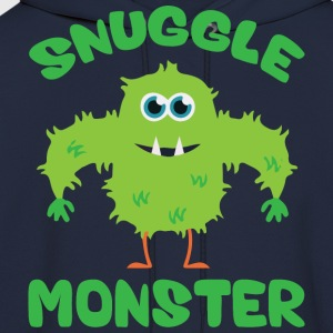 Snuggle Monster (Green) T-Shirts - Men's Hoodie
