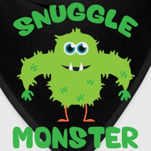 Snuggle Monster (Green) Hoodies - Bandana