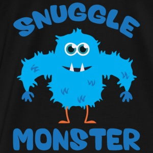 Snuggle Monster (Blue) Hoodies - Men's Premium T-Shirt