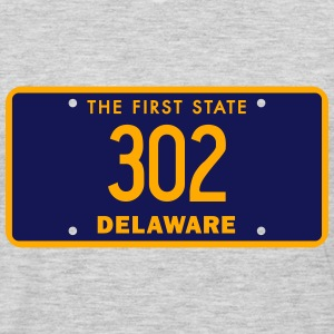 Delaware 302 Area Code License Plate T-Shirts - Men's Premium Long Sleeve T-Shirt
