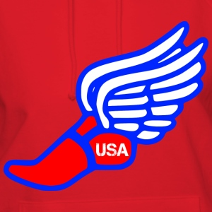 USA TRACK AND FIELD WINGED FOOT T-Shirts - Women's Hoodie
