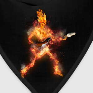 Daz Fire Skeleton Guitarist Tanks - Bandana
