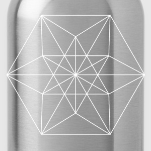 Sacred geometry / Minimal Goth Chakra Symbol Caps - Water Bottle