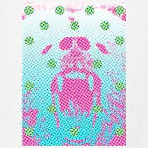 Pixelated Grizzly with Polka Dots - Men's T-Shirt
