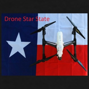 Drone Star State Logo Mugs & Drinkware - Men's Premium T-Shirt