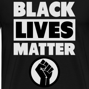 Black Lives Matter Fist Long Sleeve Shirts - Men's Premium T-Shirt