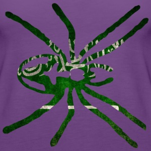 Saudi Arabia SPIDER flag T-Shirts - Women's Premium Tank Top
