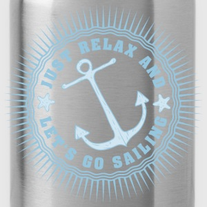 relax_and_lets_go_sailing_06201604 Kids' Shirts - Water Bottle