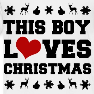THIS BOY LOVES CHRISTMAS - Toddler Premium T-Shirt