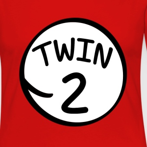 Twin 2 funny saying shirt - Women's Premium Long Sleeve T-Shirt
