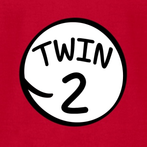 Twin 2 funny saying shirt - Men's T-Shirt by American Apparel