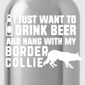 Border Collie Shirt - Water Bottle