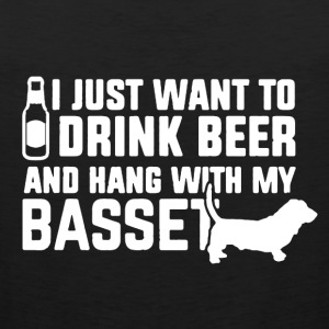 drink beer,hang besset - Men's Premium Tank