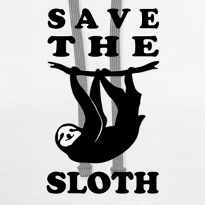 SAVE THE SLOTH - Contrast Hoodie
