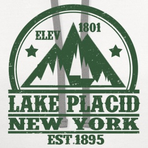 LAKE PLACID NEW YORK - Contrast Hoodie
